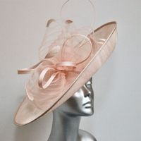 16365A/SD686 Dusky Pink Wedding Hat-inator